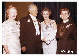 Photograph of International Council of Nurses President Alice Girard and Governor General of Cana...