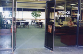 Photograph of the Science Reference Desk at the Killam Memorial Library, Dalhousie University