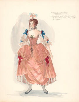 Costume design for Madeleine Bejart