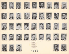 Composite photograph of the Faculty of Medicine - Class of 1962