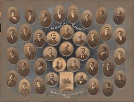 Photographic collage of the Dalhousie University Arts and Science faculty and class of 1902