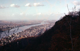 Photograph of the Rhine towards Bonn from the Drachenfels