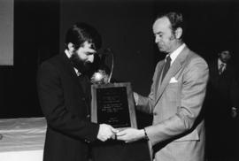 Photograph of Ray Riddell and W. Andrew MacKay : Climo Award presentation