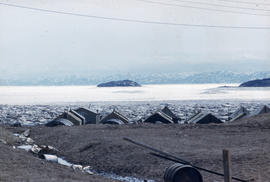 Photograph of several small buildings in Frobisher Bay, Northwest Territories