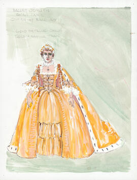 Costume design for the Queen at the Ball : Act 2