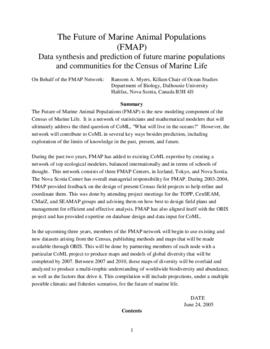 The Future of Marine Animal Populations (FMAP) Data synthesis and prediction of future marine pop...