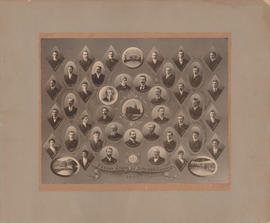 Composite photograph of the Dalhousie University senior class in arts and science of 1903