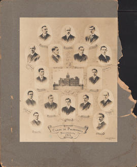 Composite photograph of the Dalhousie University class in pharmacy of 1915