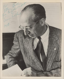 Aaron Copland : [autographed photograph]