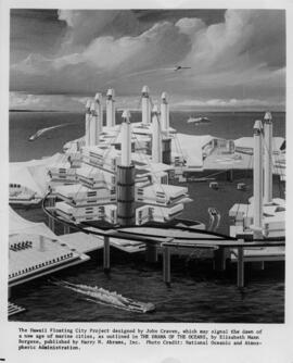 Photograph of the Hawaii floating city project