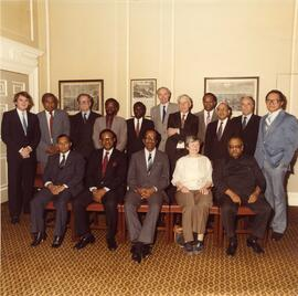 Photograph of a group from Commonwealth Secretariat