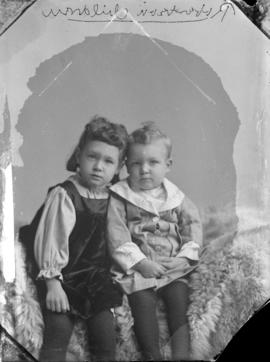 Photograph of Rev. Robertson's two children