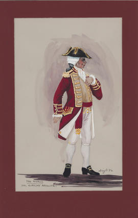 Costume design for Sir Anthony Absolute