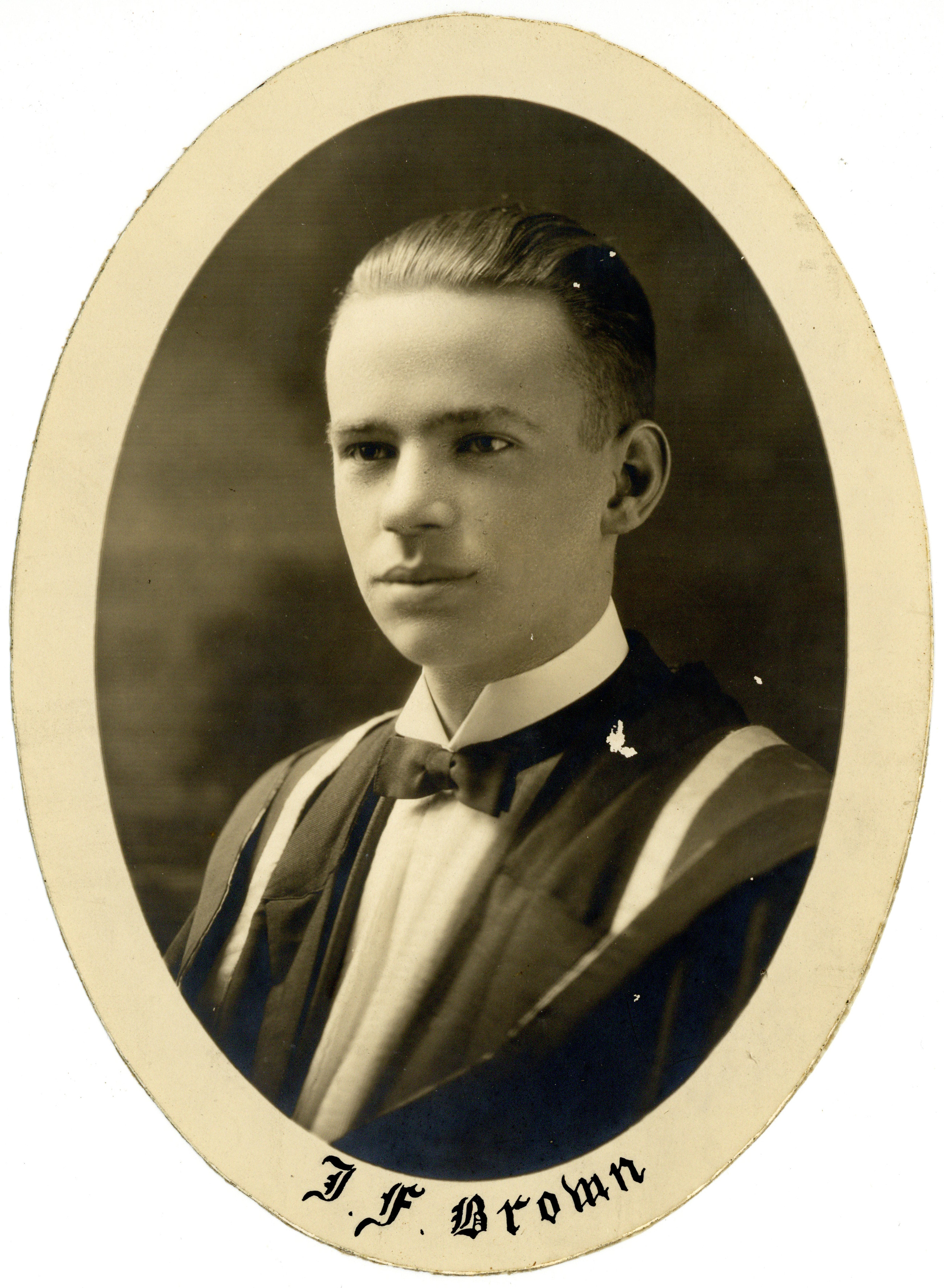 Portrait of John Forbes Brown : Class of 1924 - Archives