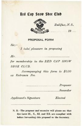 Forms and Stationery, Red Hat Snow Shoe Club