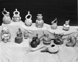 Photograph of pottery display