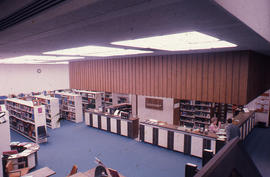 Photograph of the W.K. Kellogg Health Science Library - view from the second floor