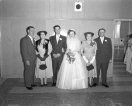 Photograph of Mr. & Mrs. Wright's wedding