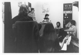 Photograph of a meeting for a course in Community Psychology