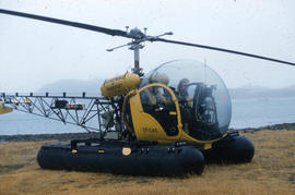 Photograph of a helicopter from the Department of Transportation