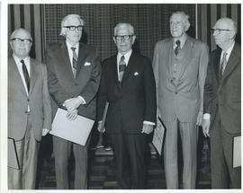 Photograph of five honorary presidents of the Dalhousie Alumni Association
