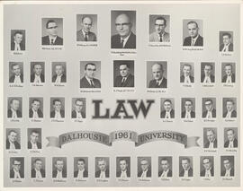 Composite photograph of Faculty of Law class of 1961