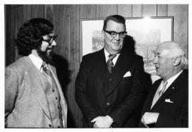 Photograph of H.W. Arthurs, Chief Justice MacKeigan and Henry Hicks at the Horace E. Read Memoria...