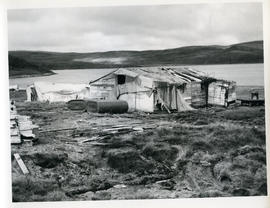 Photograph of an abandoned shack in Sugluk, Quebec