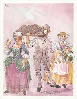 Costume design for townspeople
