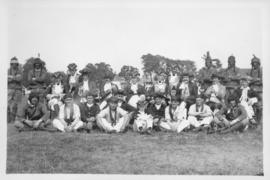 Photograph of a group of historical reenactors