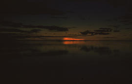 Photograph of a sunset at Ungava Bay