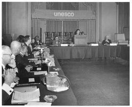 Photograph of a meeting of the Canadian commission to UNESCO