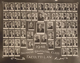 Composite photograph of Faculty of Law - Dalhousie Graduating Class - 1948