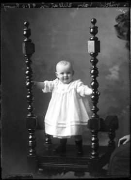 Photograph of the baby of Mrs. Mitchell,
