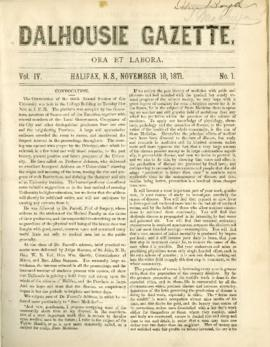 Dalhousie Gazette, Volume 4, Issue 1