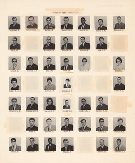 Composite photograph of the Faculty of Medicine - Fourth Year Class, 1970-1971 (Andersons to John...