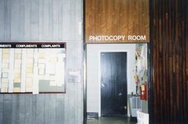 Photograph of the photocopy room in the Killam Memorial Library