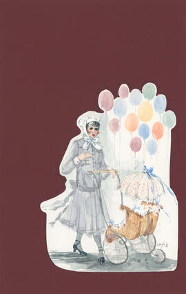 Costume design for woman with stroller