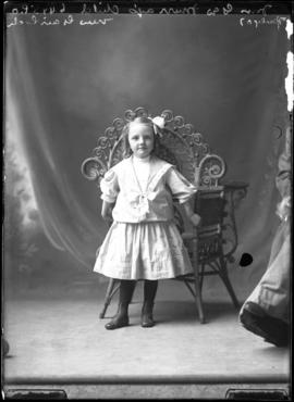 Photograph of the daughter of Mrs. George Murray