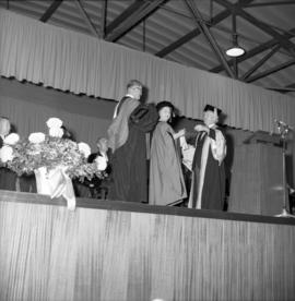 Photograph of the Queen Mother receiving an honorary degree