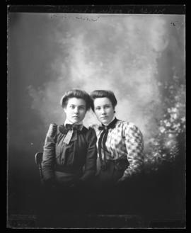 Photograph of Miss Woodin & her sister