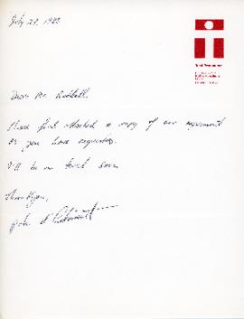 Correspondence between Thomas Head Raddall and Peter D'Entremont