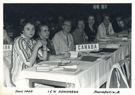 Photograph of Canadian Delegation at the International Council of Nurses Kongress June 1965
