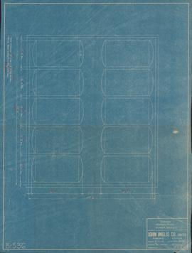 Blueprint of a proposed storage room for Oland & Sons Ltd