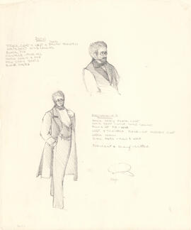 Costume designs for Dorn and Madvenko