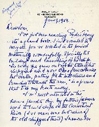 Correspondence between Thomas Head Raddall and Philip Child