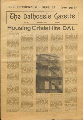 The Dalhousie Gazette, Volume 106, Issue 3