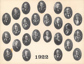 Composite Photograph of the Faculty of Medicine - Class of 1922