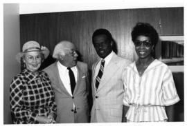 Photograph of Dr. and Mrs. Hicks with Mr. and Mrs. Stanley L. Taylor