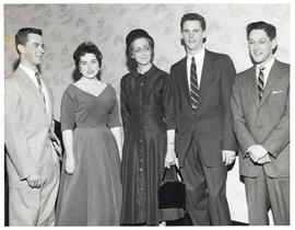 Photograph of Lady Dunn with students